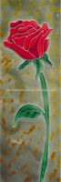Rose Picture of Hand Painted Ceramic Art Tile for wall hanging