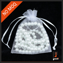 YIWU factory 7*9 cm white mesh jewelry pouch for promotion