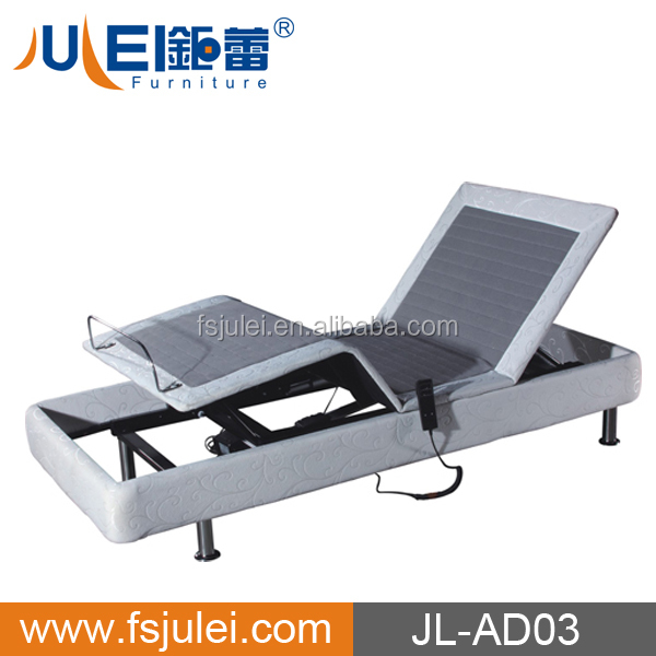 JL-AD03 Bedroom Furniture Electric Adjustable Massage Bed Base with fabric surface