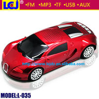 L-035 mini portable car toy speakers with fm radio mp3 player