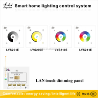 led touch dimming panel glass touch switch panel smart home touch control panel