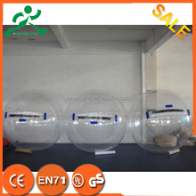 Promotional price!! PVC/TPU Germany Zipper inflatable water ball, human in ball,zorbing on water uk