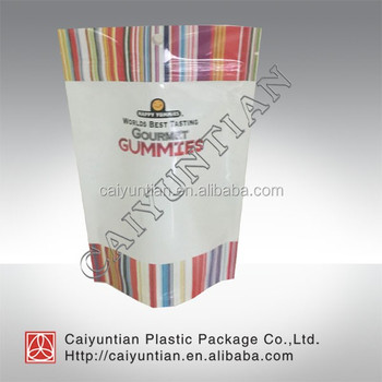Hot sale customized printing plastic stand up packaging bag with zipper or transparent window for pet food/snake/coffee etc