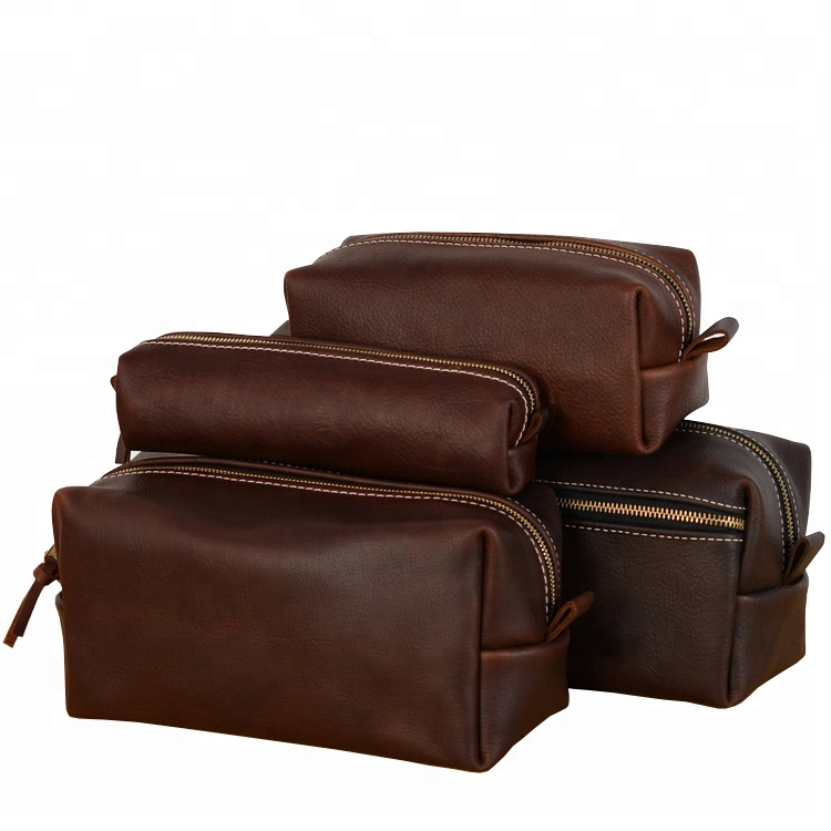 Customized Easy Clean PU Leather Men Cosmetic Toiletry Bag For <strong>Travel</strong>