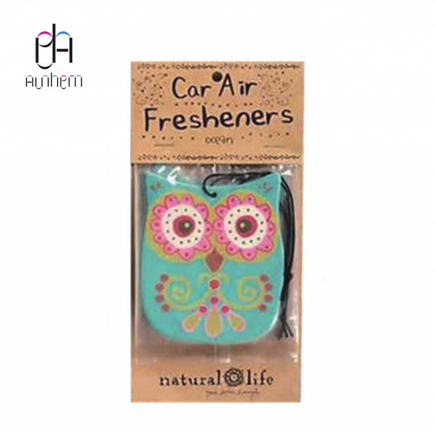 Customized emoji paper car air freshener new car paper air freshener/ air freshener for car with Logo printing IC-814