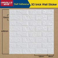 3d tiles waterproof brick self-adhesive wall sticker for bedroom faux brick wall sticker, 30 pcs/ctn