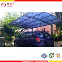 Clear polycarbonate hollow sheet carports