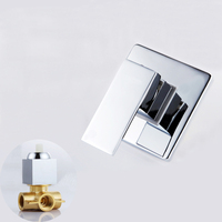 Shower Mixer Valve Shower Faucet Brass Bathroom Hot Cold Bath Mixer Valve Wall Mounted Water Tap