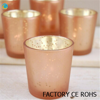 2015 new copper wax candle cup/rose gold candle holder
