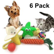Durable Cotton Rope Pet Chew Toy For Dogs Wholesale Custom Squeaky 6 PACK Dog Toy Set