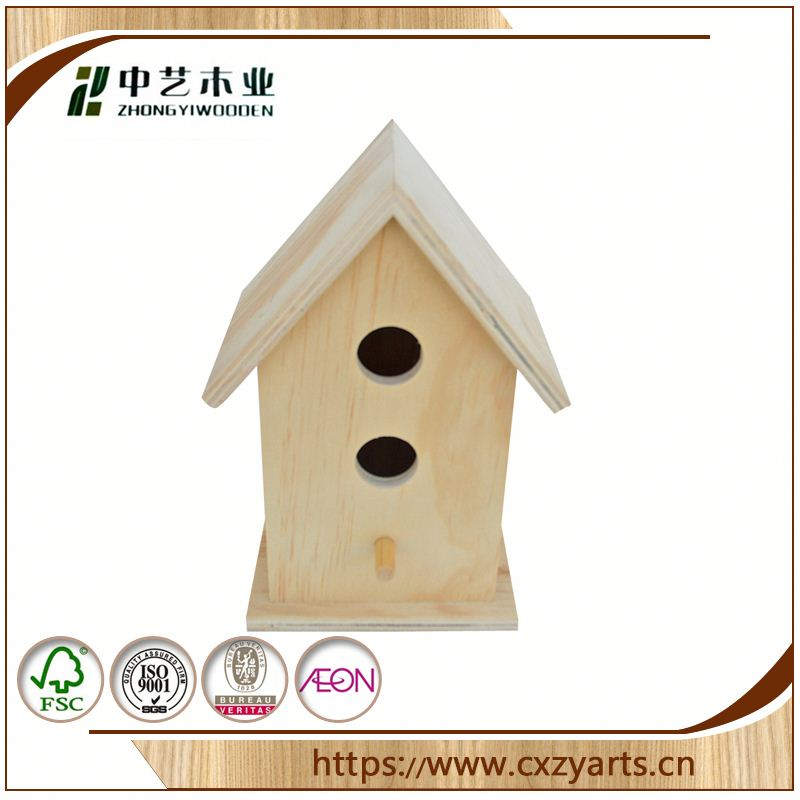 on sale china factory custom new design wooden bird house bird cage