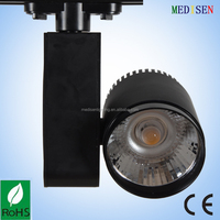 2-pin led track light 30w COB with black body 2 lines 3 lines 4 lines base