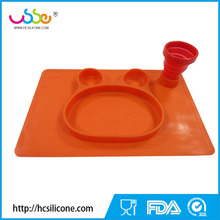 BPA Free Rabbit Silicone Feeding Placemat for Kids