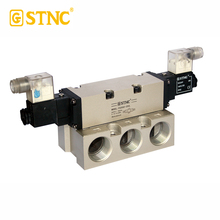 "FG series G1"" Double acting solenoid valve 3positions closed center with LED"