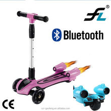 2017 China CE approved foldable kids electric scooter balance kids 3 wheel Scooter