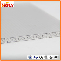 good heat Super transparent clear pc honeycomb plastic sheet for decorative ceiling plates