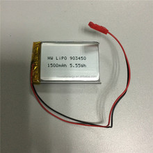 li-polymer batteries 903450 Lipo Battery 903450 1500mAh 3.7V rechargeable lithium polymer battery
