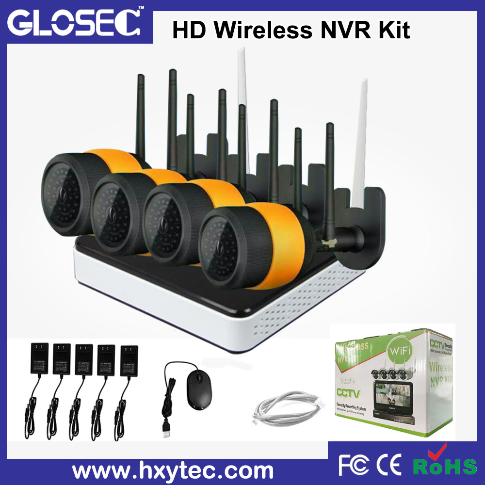 best selling products wifi ip camera 720p, made in china wireless ip camera, 4ch outdoor double wifi nvr kit
