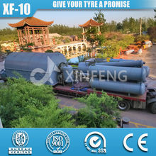high oil output scrap rubber tire recycling plant