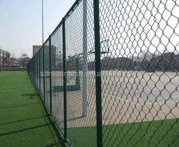 2 x 2 14G 4ft x 25m Green PVC Coated Chain Link Fence in Roll High Quality Wire Mesh for Fence Netting