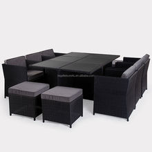 sell 11pcs all weather garden rattan cube table and chair RLF-1412891