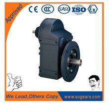 Output very low rotary speed for direction changing gearbox