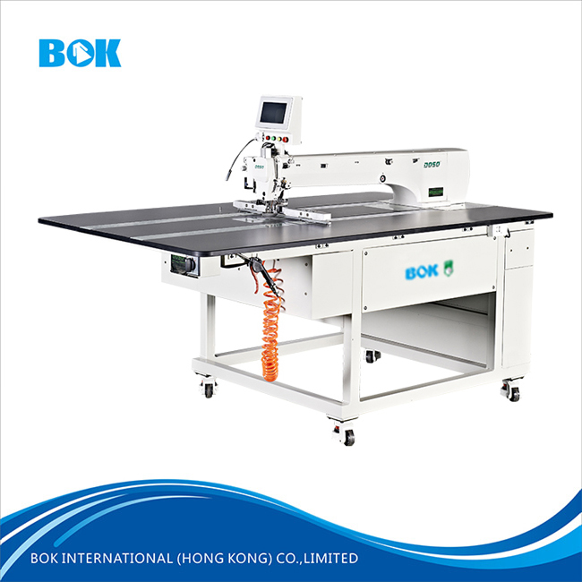 High quality fully automatic electric pattern sewing machine with cutting and laser garment overlock sewing machine