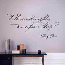 home decor modern wall stickers for baby rooms 3d art vinyl quotes who said night were for sleep of sticker decal home decor
