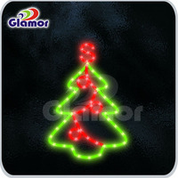 Waterproof color changing christmas tree lights LED rope light motif