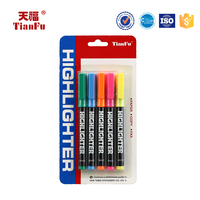 Multi-color promotional customized quick dry highlighter marker pen for wholesale