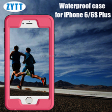 Shockproof Waterproof Dust / Dirt / Snow Proof Aluminum Metal Case Gorilla Glass Heavy Duty Case Cover for iphone 6plus