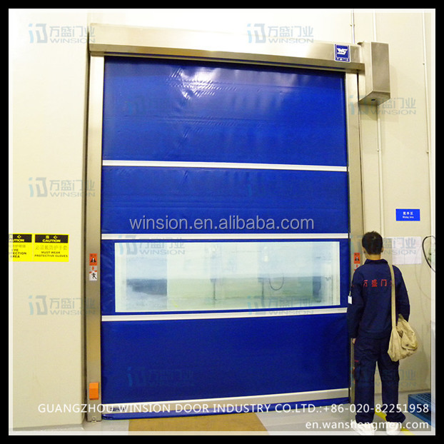 curtain design metal roll up window hgih speed industrial automatic door
