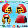 cheap customized football helmet inflatable entrance tunnel with logo printing