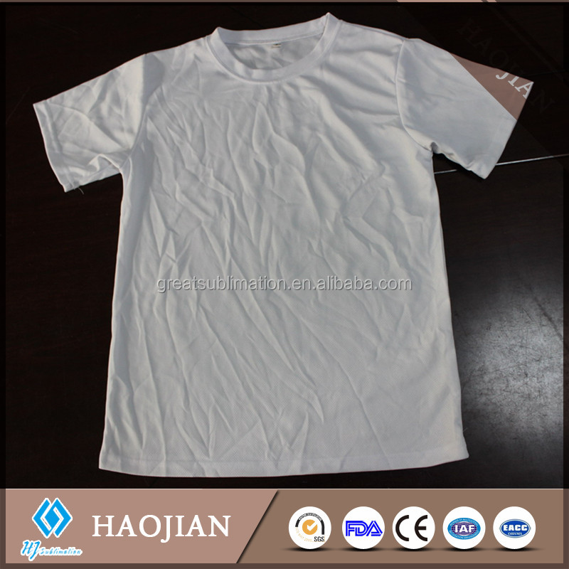 white blank 100% polyester T-shirt