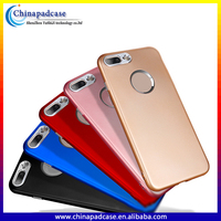 Newest!!Wholesale mobile accessory ultra thin matte electroplating soft tpu cell phone back cover case for iphone 7 / 8