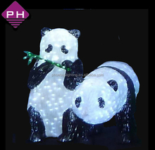 carnival lights outdoor decoration acrylic resin led christmas panda