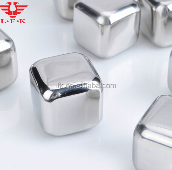 Direct Factory! L.F.K Dice Ice Cube Whisky Stone, BPA Free Stainless Steel Ice Cube, LFK-IC01
