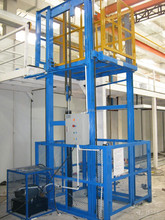 Warehouse vertical hydraulic lift shaft