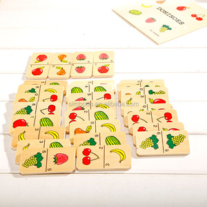 Factory good sales Child fruit domino