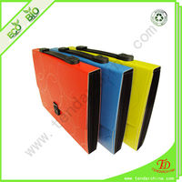 Colorful expanding file with handle for school and office