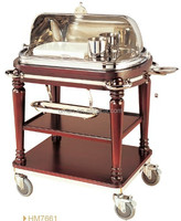 Deluxe buffet dining cart roast beef trolley
