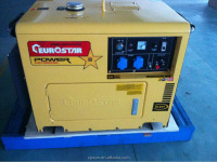 EUROSTAR Air Cooled 5KVA portable silent diesel generator