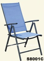 Alum Frame Sling Fabric Outdoor 7 Position Folding Chair