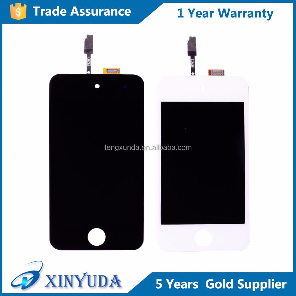 Hight quality <strong>lcd</strong> with digitizer touch screen assembly for ipod touch 4