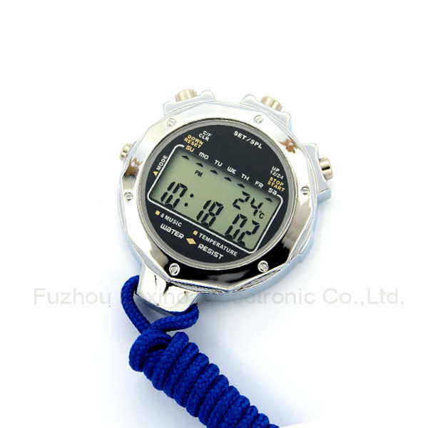 Professional big digital sport stopwatch with waterproof function