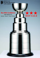 Canadian ice hockey Cup 2 325mm Nickel / Silver / Gold plated