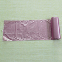 Star sealed light purple plastic garbage bag on roll, light purple trash bags
