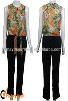 new design print flower blouses fashionable 2013
