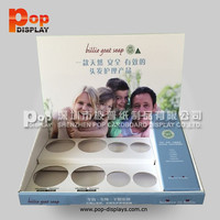 cardboard counter display box counter display stand pdq for eye shadow