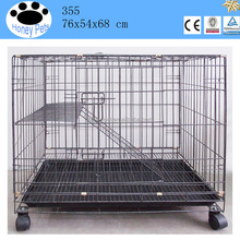 Wholesale double layers metal handmade cat cage with wheels